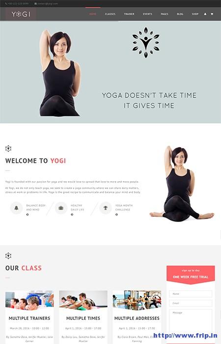 Yogi-Yoga-WordPress-Theme