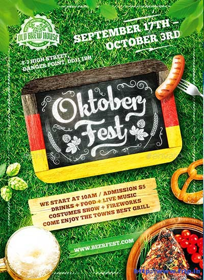 Oktoberfest-Festival-Poster-Vol
