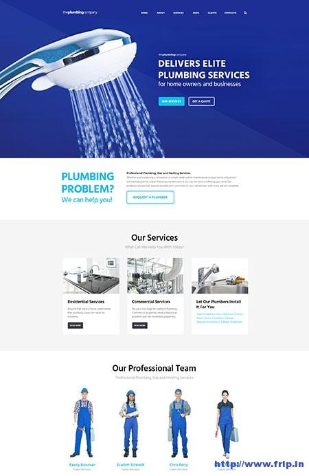 Plumbing-Company-WordPress-Theme