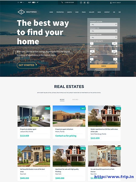 Realty-Space-Real-Estate-WordPress-Theme