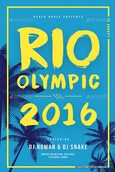 Rio-Olympic-Minimal-Flyer