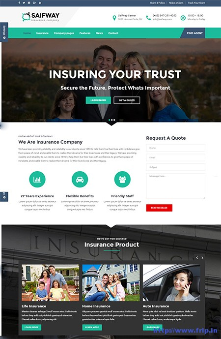 Saifway-Insurance-Agency-WordPress-Theme