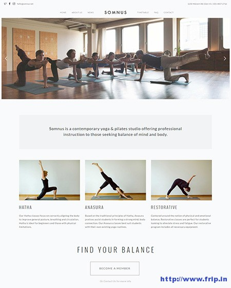 Somnus-Yoga-WordPress-Theme