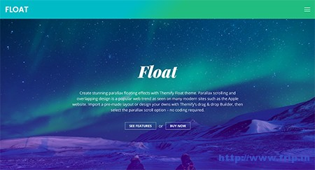 float-parallax-effect-wordpress-theme