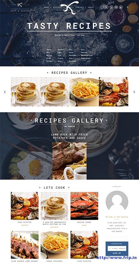 salt-&-pepper-recipes-WordPress-theme