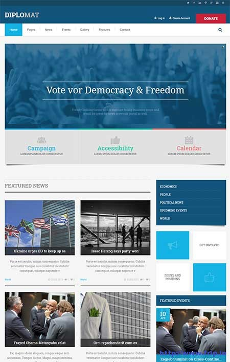 diplomat-political-site-template