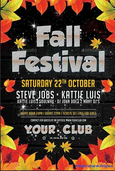 fall-festival-flyer-templates