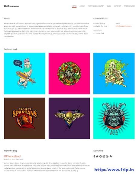hellomouse-minimal-portfolio-theme