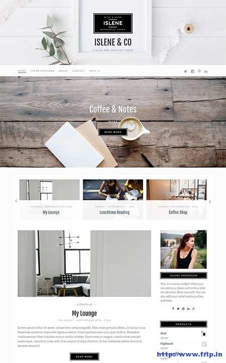 islene-blogging-wordpress-theme
