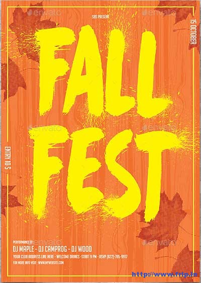minimal-fall-fest-flyer-template