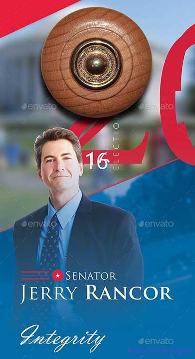 political-election-door-hanger-template