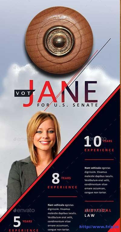 vote-jane-political-door-hanger-template