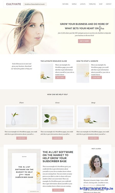 cultivate-wordpress-theme