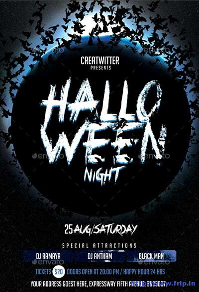 halloween-night-flyer