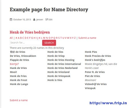 name-directory-wordpress-plugin