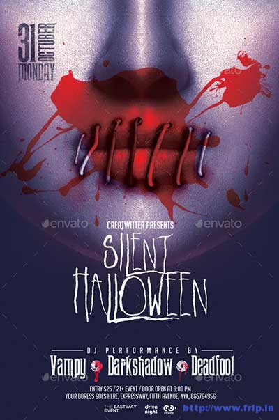 silent-halloween-party-flyer