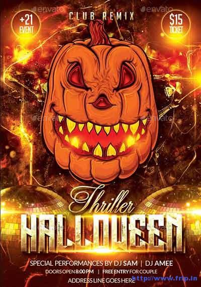 thriller-halloween-party-flyer