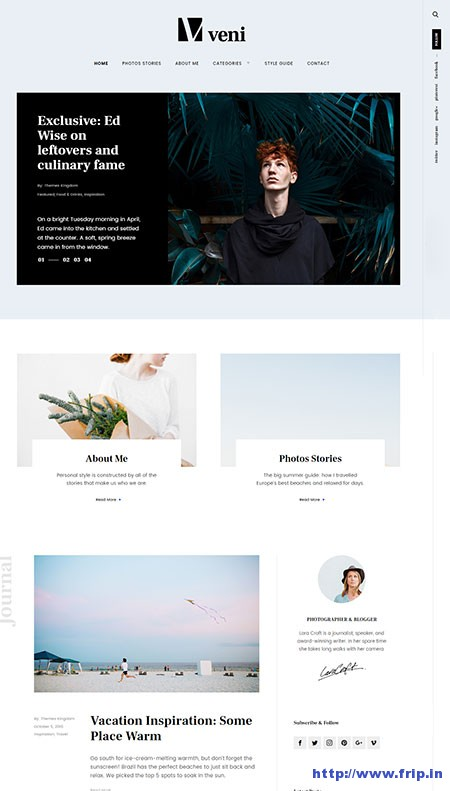 veni-blog-wordpress-theme
