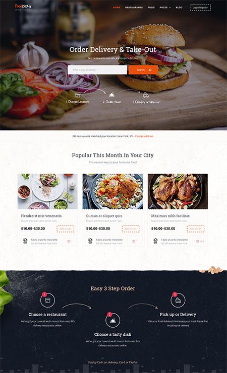 foodpicky-wordpress-theme