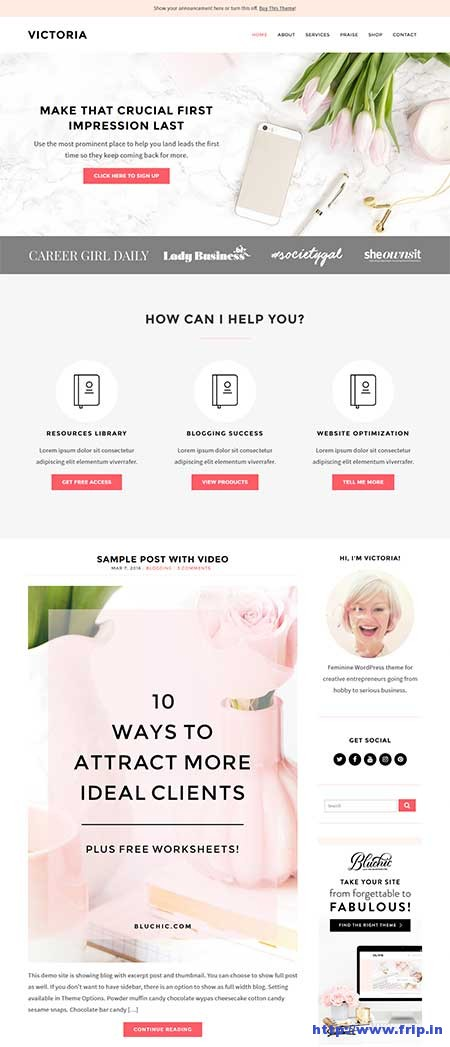 victoria-wordpress-theme