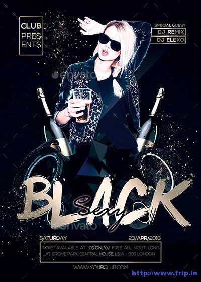 black-party-night-flyer