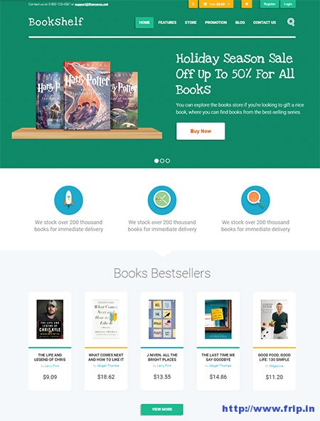 bookshelf-book-media-wordpress-theme
