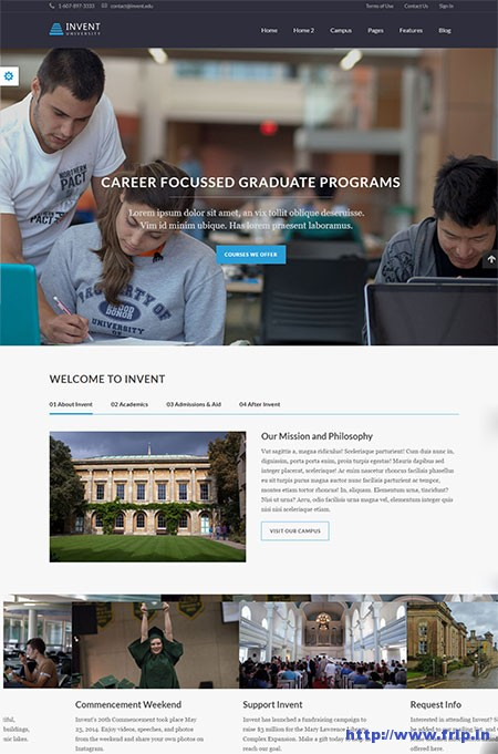 invent-education-college-wordpress-theme