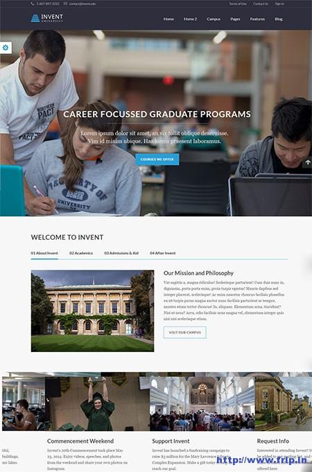 invent-education-college-wordpress-theme