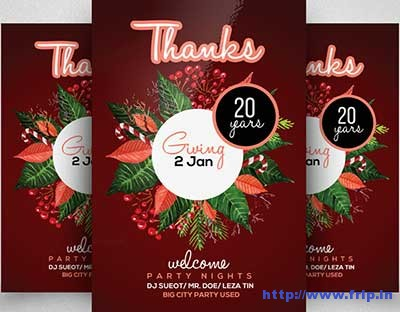 thanks-giving-party-flyer-templates