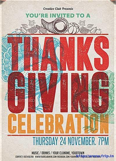 thanksgiving-celebration flyer