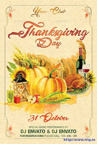 thanksgiving-day-vintage-party-flyer