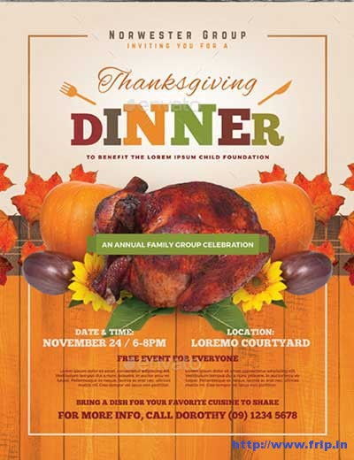 thanksgiving-dinner-flyer-templates