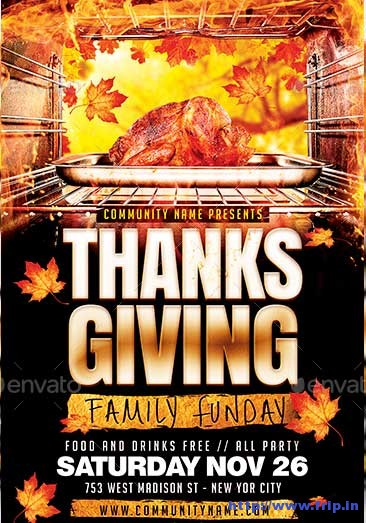 thanksgiving-family-funday-party-flyer