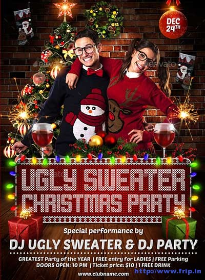 ugly-christmas-sweater-party-flyer