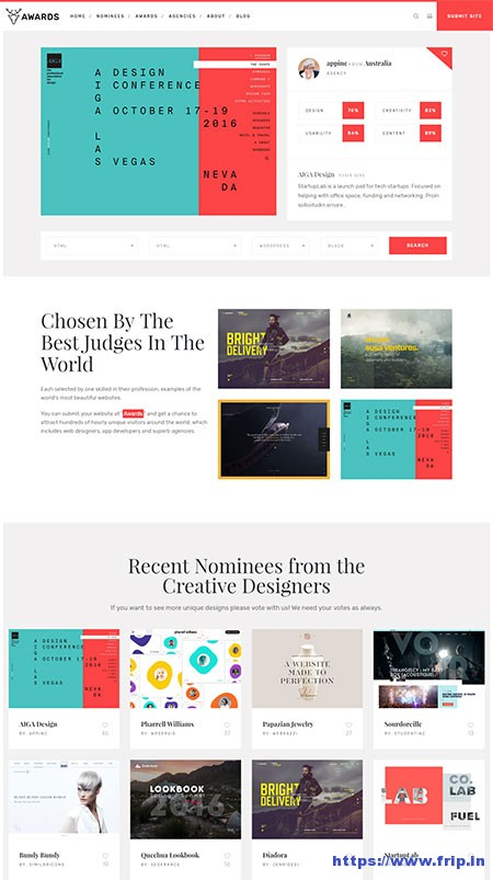 awards-css-gallery-nominees-showcase-wordpress-theme