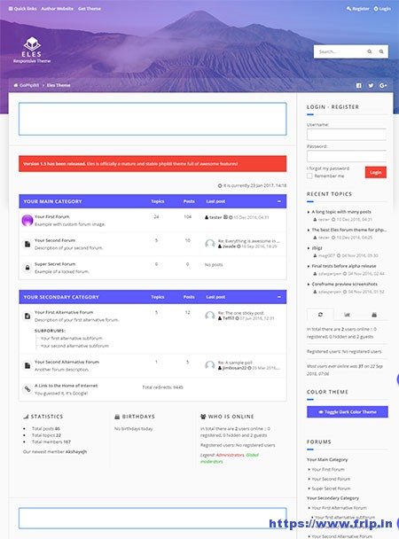 eles-responsive-phpbb-3 forum theme