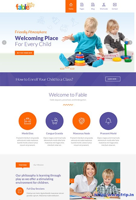 fable-children-kindergarten-template