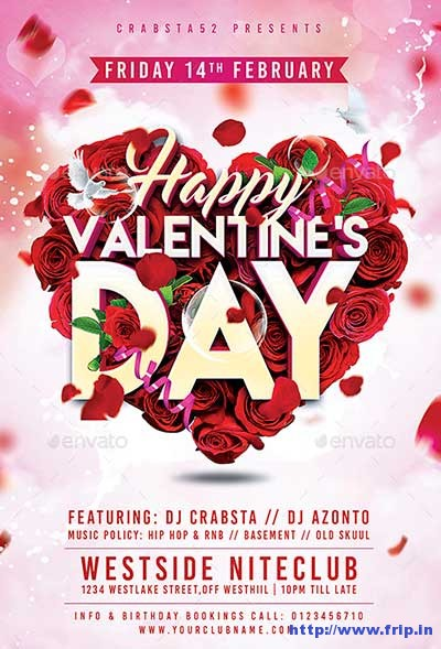 70  best valentine u0026 39 s day party flyer templates 2019