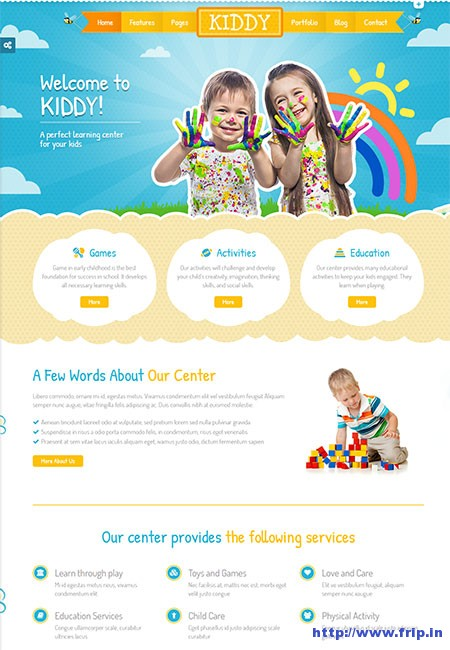 kiddy-children-html-template