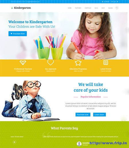 kindergarten-children-html-template