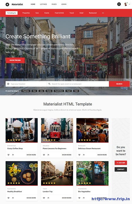 materialist-directory-html-template