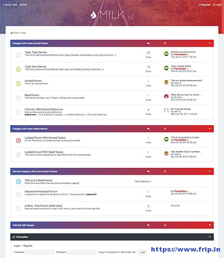 milk-responsive-phpbb-3 forum theme