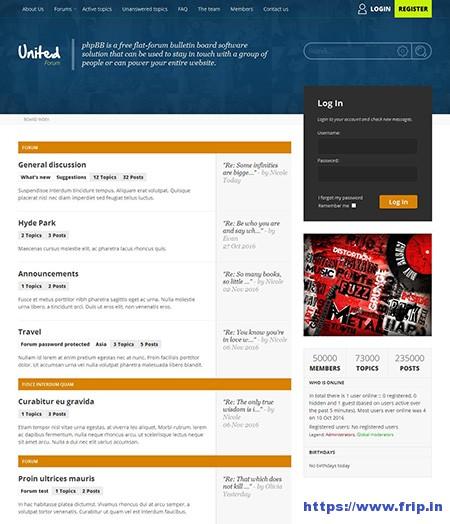 unitedforum-phpbb3-forum-theme