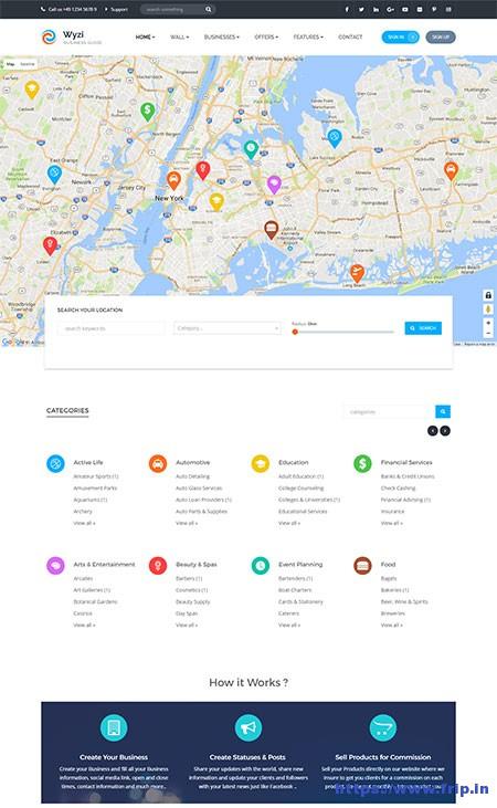 wyzi-social-service-business-finder-wordpress-theme