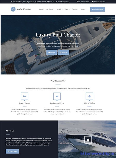 yacht-charter-wordpress-theme