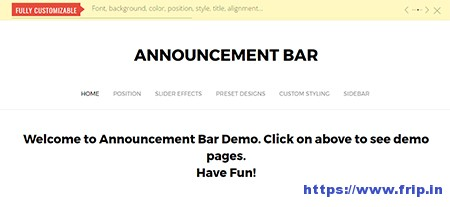 Announcement-Bar-WordPress-Plugin