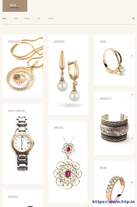 Arlo-Jewelry-Artist-Portfolio-WordPress-Theme