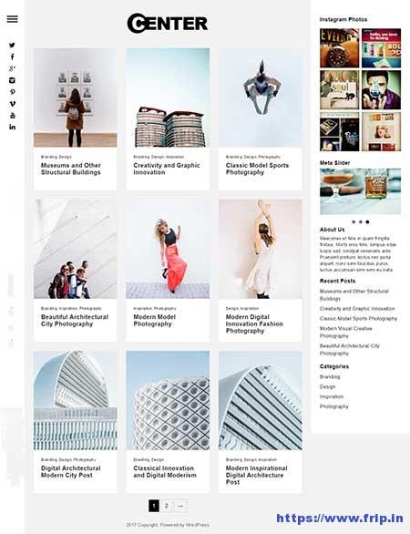 Center-Responsive-WordPress-Theme