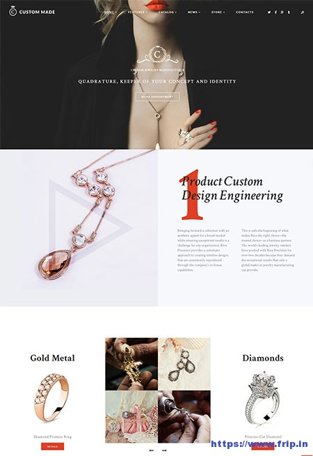 Custom-Made-Jewellery-Manufacturer-WordPress-Theme