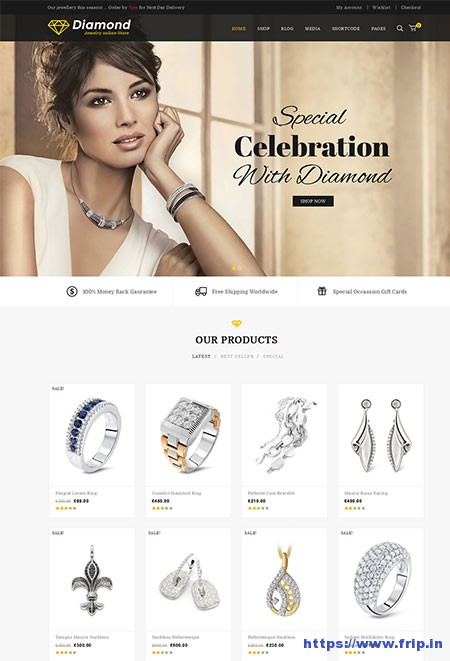 Diamond-WooCommerce-WordPress-Theme